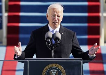 WASHINGTON, DC - JANUARY 20: President Joe Biden speaks during the the 59th inaugural ceremony on the West Front of the U.S. Capitol on January 20, 2021 in Washington, DC.  During today's inauguration ceremony Joe Biden becomes the 46th president of the United States. (Photo by Patrick Semansky-Pool/Getty Images)